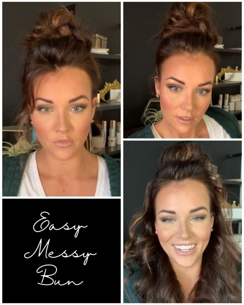 Easy Messy Bun Hairstyle
