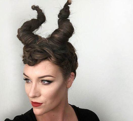 Halloween Makeup look Maleficent Hair and Makeup Tutorial