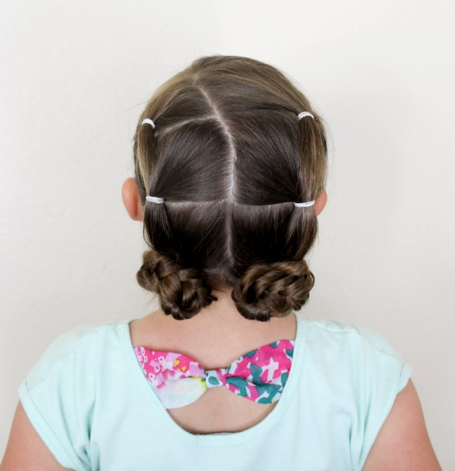 hairstyles for kids - braided buns