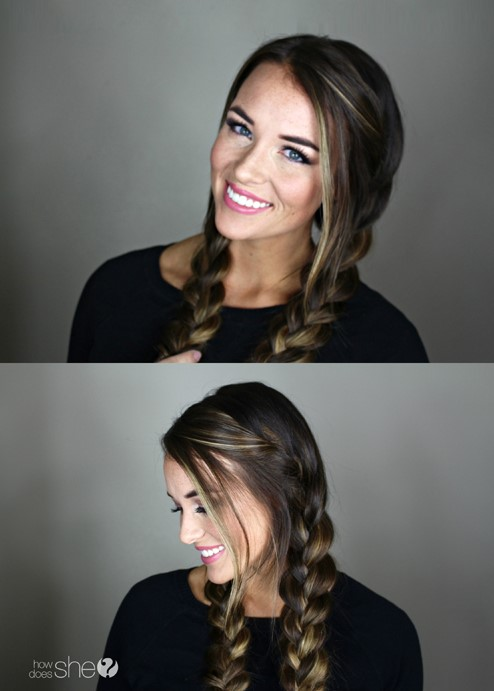 how to wear french braids hairstyle tutorial
