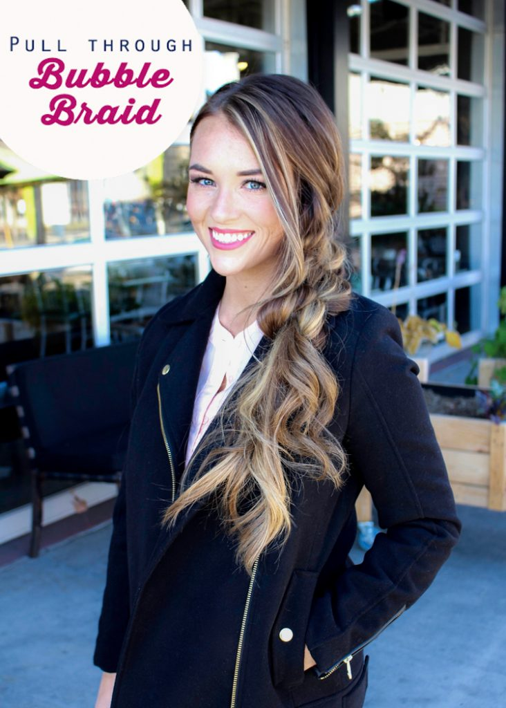pull through braid tutorial bubble braids