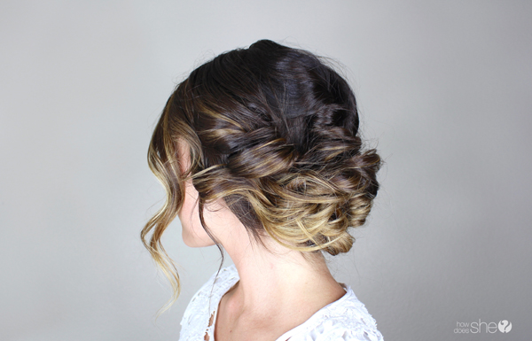 Romantic, loose updo for date night