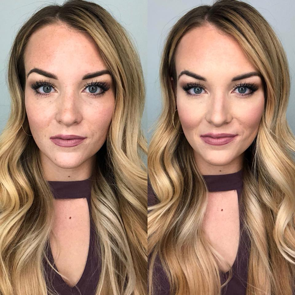 highlight and contour with seint beauty before and after